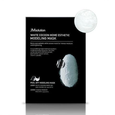 Альгинатная маска с экстрактом жемчуга и шелкопряда JMsolution White Cocoon Home Esthetic Modeling Mask