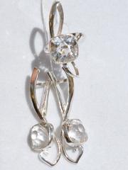 Эффа (кольцо + серьги из серебра)
