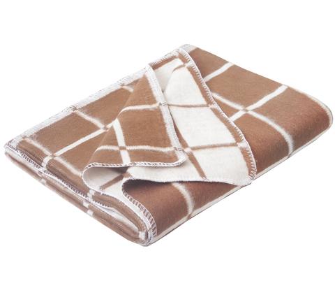 Одеяло байковое Коричневая клетка