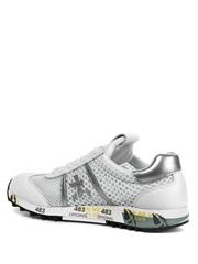 Комбинированные белые кроссовки Premiata Lucy-D 4636 на шнуровке