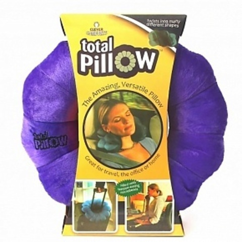Подушка трансформер для путешествий Total Pillow Тотал-пиллоу фиолетовая