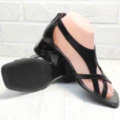 Сандали босоножки женские Evromoda 166606 Black Leather.