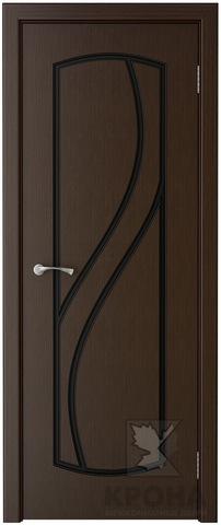 Дверь Крона Венера, цвет венге, глухая