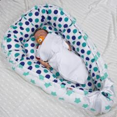 Кокон-гнездо для младенца Nest Мятный вид 1