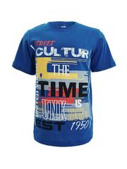 D002-39 футболка для мальчиков, синяя
