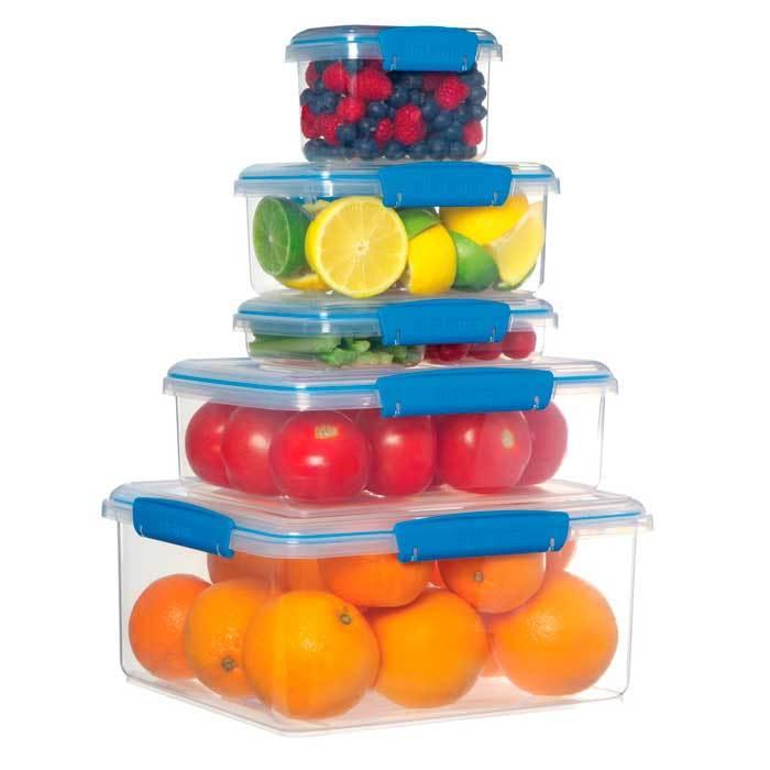 """Набор пищевых контейнеров Sistema """"Fresh""""1,2л, 3шт."""