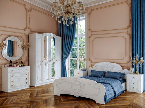 Спальня Мария белый глянец