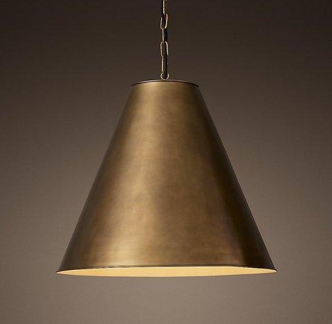 Подвесной светильник копия Antiqued Metal Funnel Pendant by Restoration Hardware