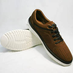 Легкие дышащие кроссовки для повседневной носки мужские Vitto Men Shoes 1830 Brown White