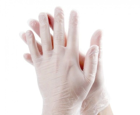 Перчатки виниловые 50 пар (100 штук) (размер M)