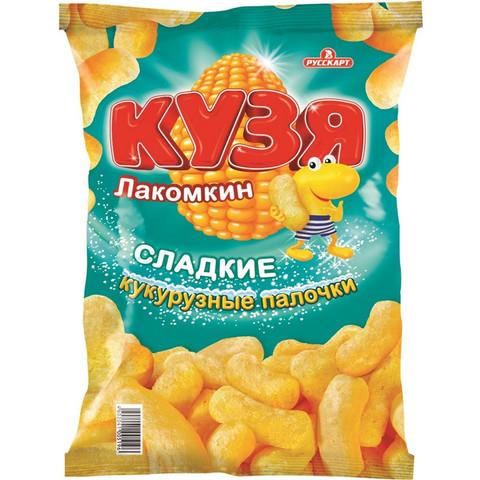 Кукурузные палочки Кузя Лакомкин с сахарной пудрой, 140г