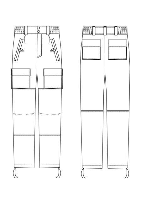 Выкройка костюма капрал брюки