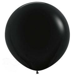 Черный шар 60/90 см на атласной ленте