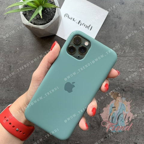 Чехол iPhone 11 Pro Max Silicone Case /pine green/ сосновый лес original quality