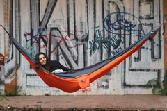 Гамак средний Ticket to the Moon Original Hammock Orange/Dark Grey