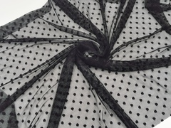 Эластичная сетка, черный с мушками (мушка 5мм), (Арт: ESM-170)