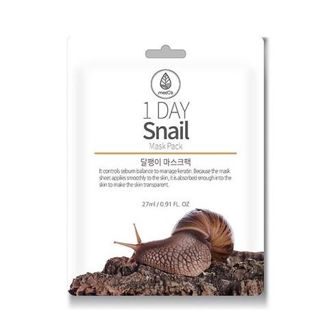 MED B 1 DAY Тканевая маска с экстрактом Муцина Улитки Snail Mask Pack, 27ml