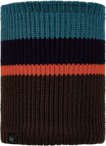 Вязаный шарф-труба с флисом детский Buff Neckwarmer Knitted Polar Carl Pewter фото 1