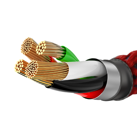 Кабель Baseus X-type Light Cable For Lightning 2.4A 0.5M Red