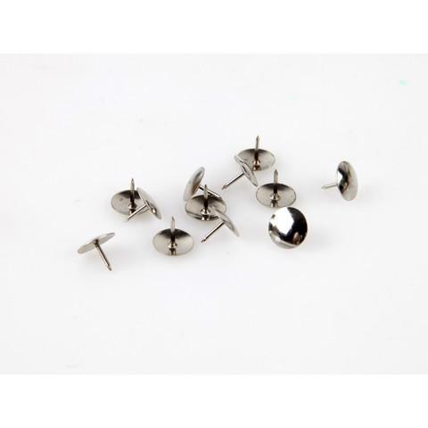 Кнопки канцелярские Attache металлические серебристые (100 штук в упаковке)