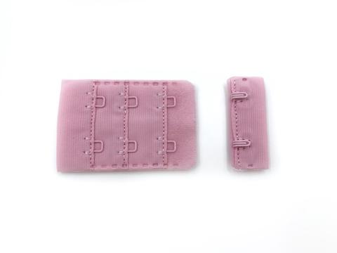 Застежка с крючками розовая 2 ряда
