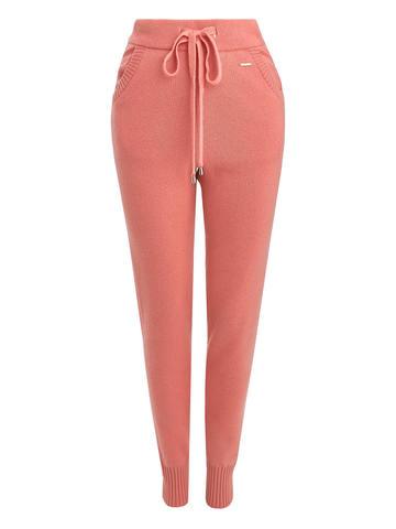 Женские брюки кораллового цвета из шерсти и кашемира - фото 5