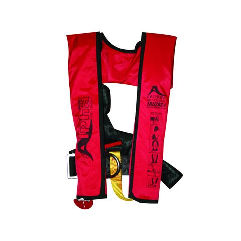 Жилет спасательный надувной детский Lalizas Alpha 120N, красный