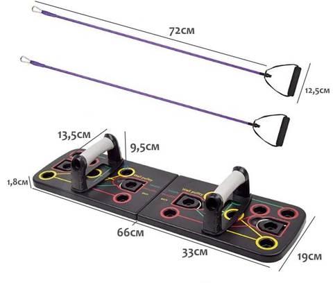 Складная платформа для отжиманий с упорами и резинками