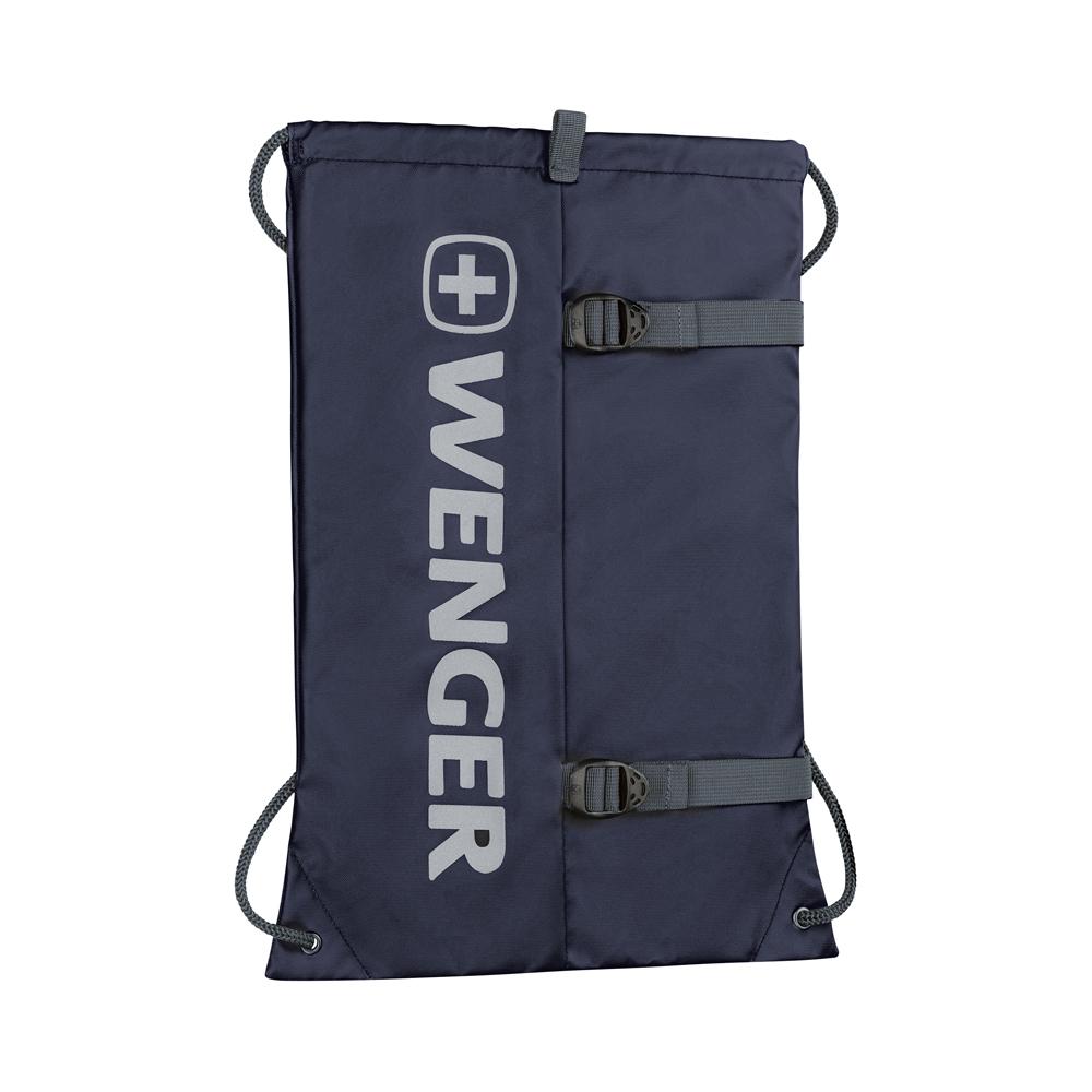 Лёгкий рюкзак-мешок на завязках синий 12л XC Fyrst с одним отделением, водоотталкивающим покрытием и большим светоотражающим логотипом WENGER 610168