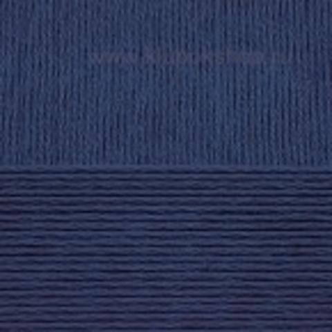 Пряжа Вискоза натуральная Пехорский текстиль темно-синий 04