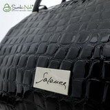 Сумка Саломея 278 лак камни черный