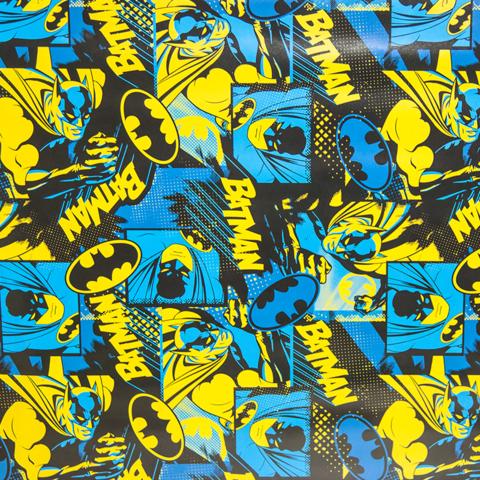 Упаковочная бумага (0,7*1 м) Бэтмен, Синий, 1 шт.