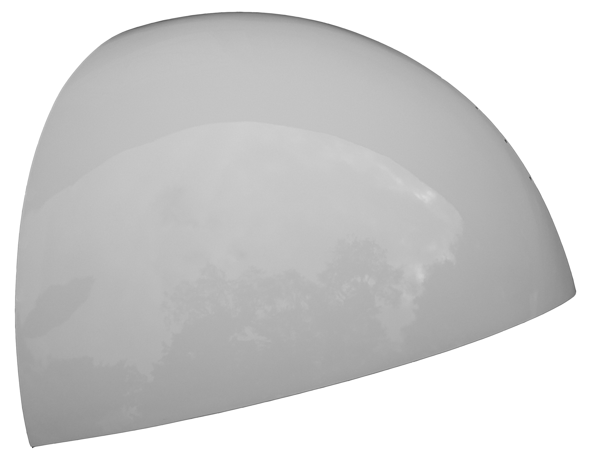 1/12 of a sphere, white, glossy