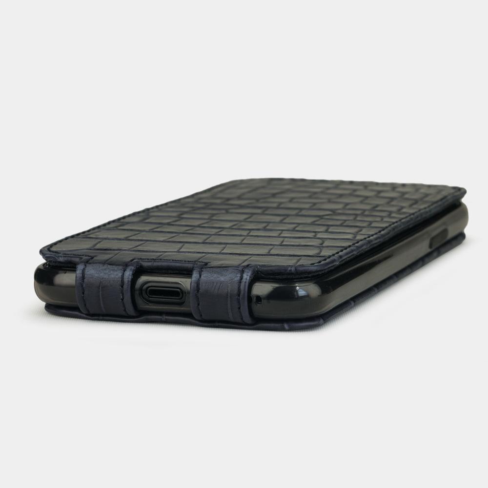 Special order: Чехол для iPhone 11 Pro из натуральной кожи крокодила, цвета синий мат