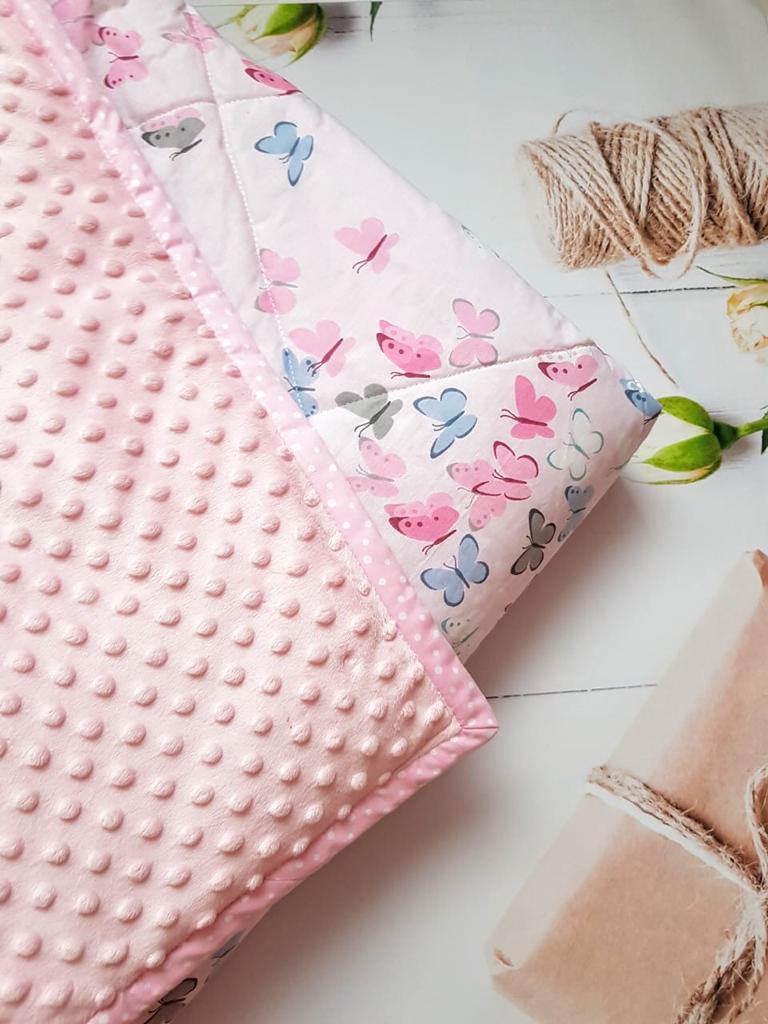Плюшевый плед с подушкой, Розовый