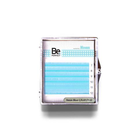 Цветные ресницы Be Perfect Neon BlueMIX 6 линий