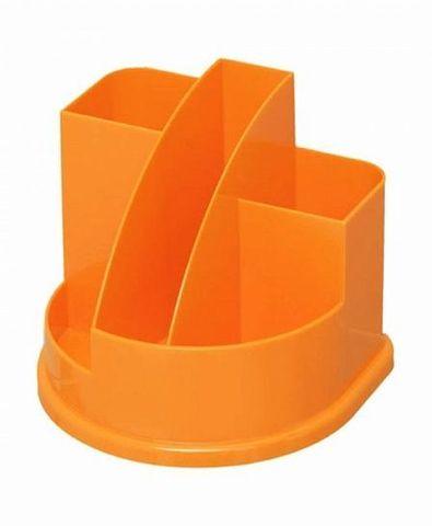 Подставка д/канц АВАНГАРД 5 отд. оранж. интенсив пластик