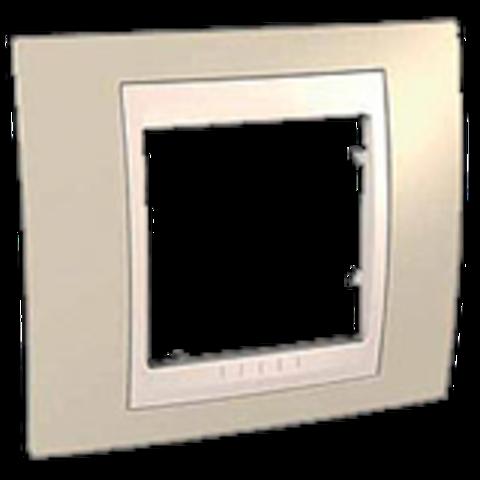 Рамка на 1 пост. Цвет Песчаный/Бежевый. Schneider electric Unica Хамелеон. MGU6.002.567
