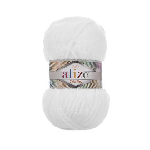 Купить Пряжа Alize Softy Plus Цвет 55 Белый | Интернет-магазин пряжи «Пряха»