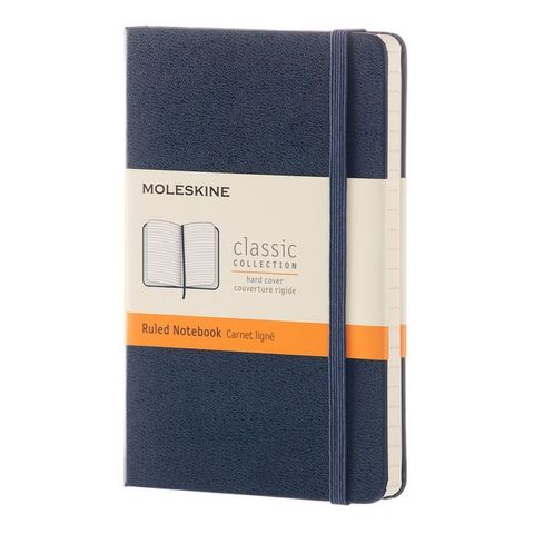 Блокнот Moleskine CLASSIC MM710B20 Pocket 90x140мм 192стр. линейка твердая обложка синий сапфир