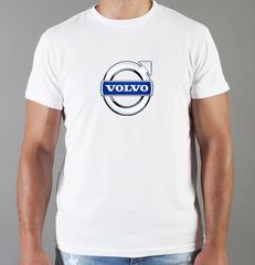 Футболка с принтом Вольво (Volvo) белая 005