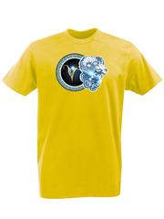 Футболка с принтом Знаки Зодиака, Овен (Гороскоп, horoscope) желтая 005