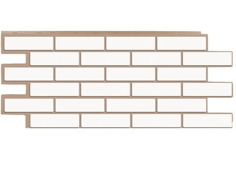 Фасадная панель Керамит - Белый