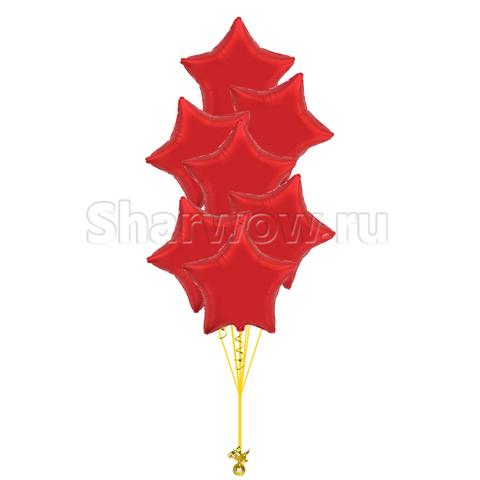 Фонтан из шаров звезд красный