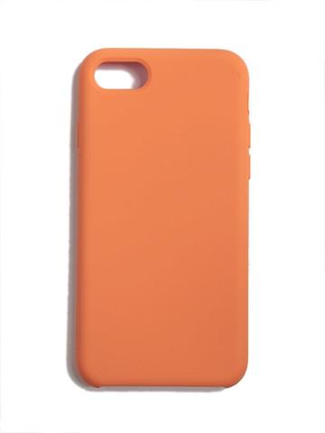 Чехол для iPhone 7+/8+ Софт тач мягкий эффект   микрофибра коралловый