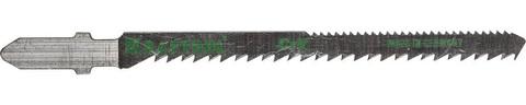 Полотна KRAFTOOL, T101AO, для эл/лобзика, Cr-V, по дереву, фанере, ламинату, фигурный рез, EU-хвост., шаг 2,5мм, 75мм, 2шт
