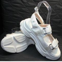 Стильные спортивные босоножки Small Swan PM23-3 White.