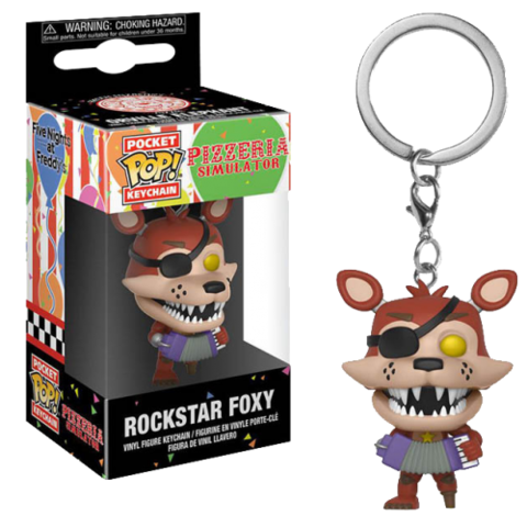 Брелок Rockstar Foxy Funko Pop