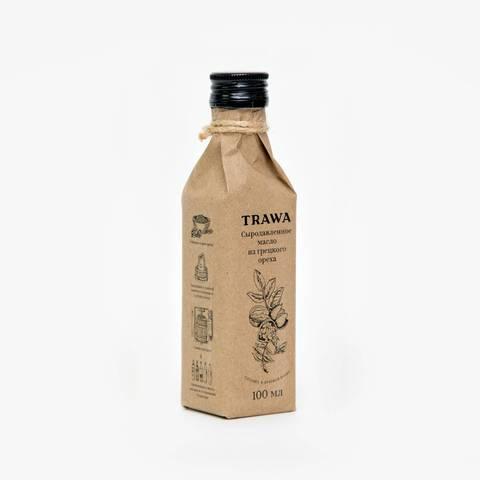 TRAWA, Масло сыродавленное грецкого ореха, 100мл