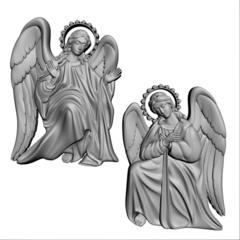 Силиконовый молод № 0208 Ангелы 2 в 1